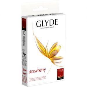 10 Glyde condooms aardbei smaak